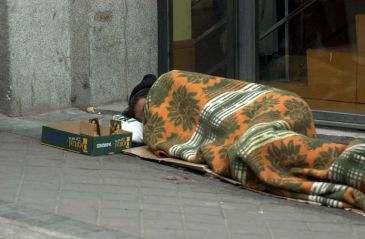 Бомжи в Мадриде