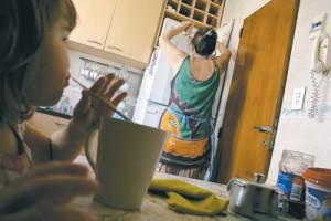 Женская работа по дому