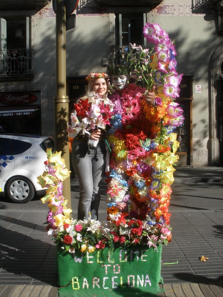 Живые статуи в Барселоне