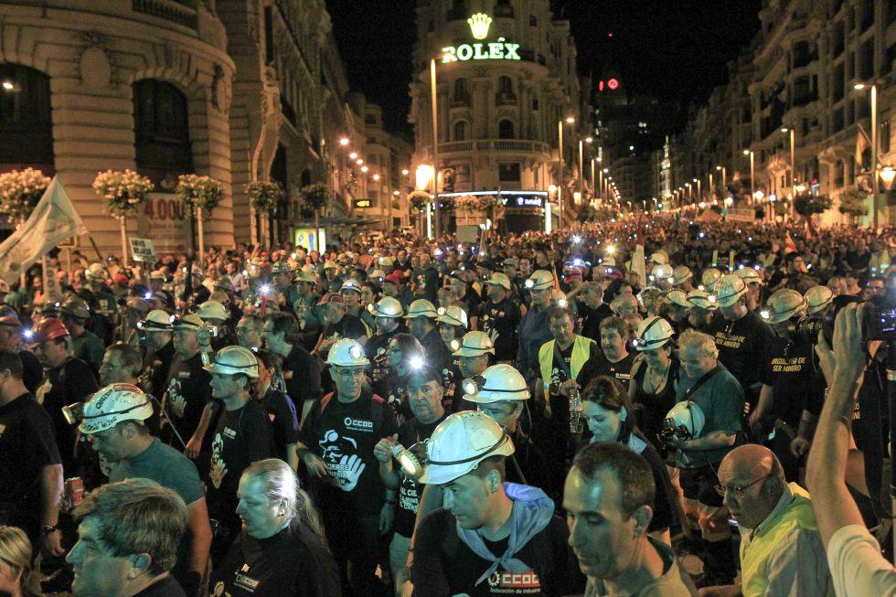 Протест шахтеров в Мадриде